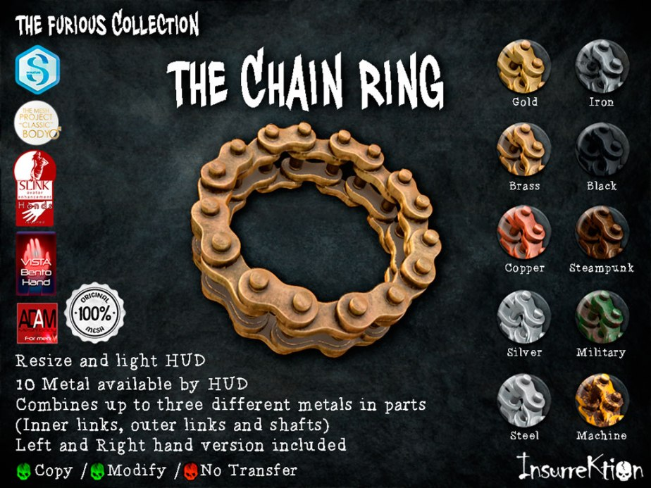 [IK] The Furious Collection - The Chain Ring Vendor