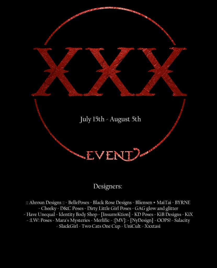 Poster The XXX Event - July '17