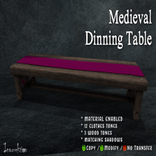 [IK] Medieval Dinning Table AD