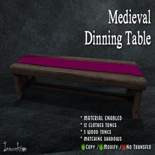 [IK] Medieval Dinning Table AD