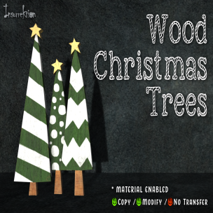 [IK] Wood Christmas Trees AD