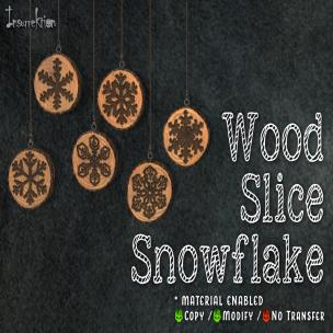 [IK] Wood Slice Snowflake AD