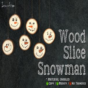 [IK] Wood Slice Snowman AD