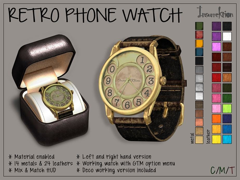[IK] Retro Phone Watch AD